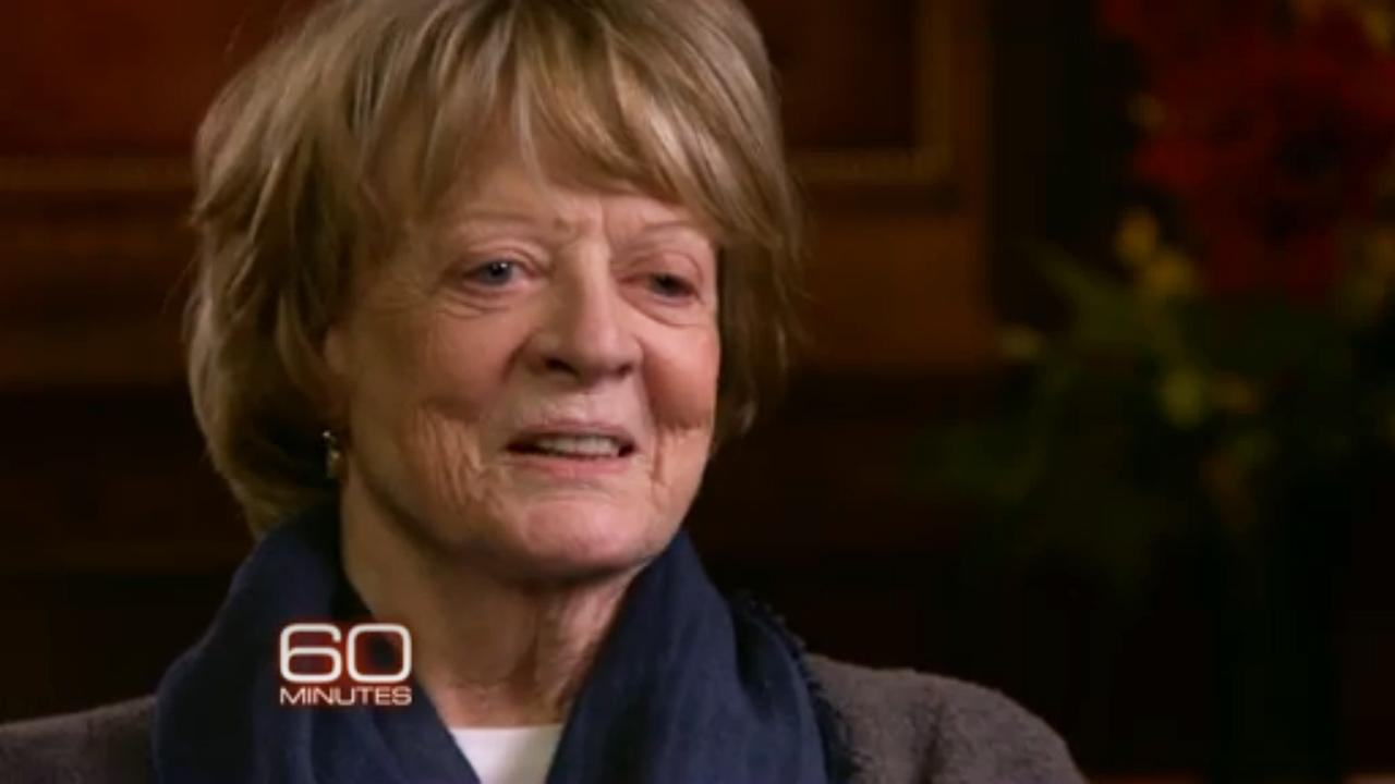 Maggie Smith appears in a scene from her CBS interview on 60 Minutes.