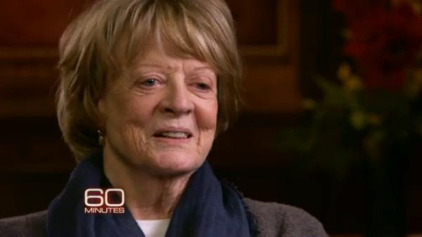 Maggie Smith appears in a scene from her CBS interview on 60 Minutes. - Provided courtesy of CBS / 60 Minutes