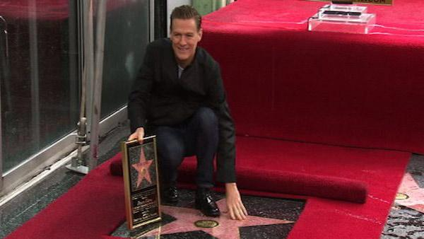 Rock star Bryan Adams receives a star on the Hollywood Walk of Fame on March 21, 2011.