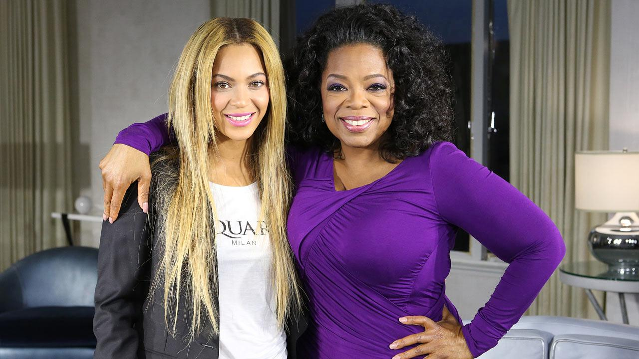 Beyonce and Oprah Winfrey appear in a February 2013 promotional photo for Oprahs Next Chapter.