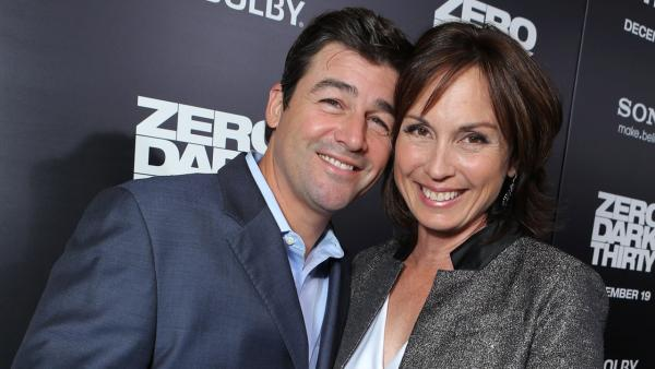 Kyle Chandler and his wife appear at the Los Angeles premiere of Zero Dark Thirty, on December 10, 2012. - Provided courtesy of SPE, Inc./Eric Charbonneau