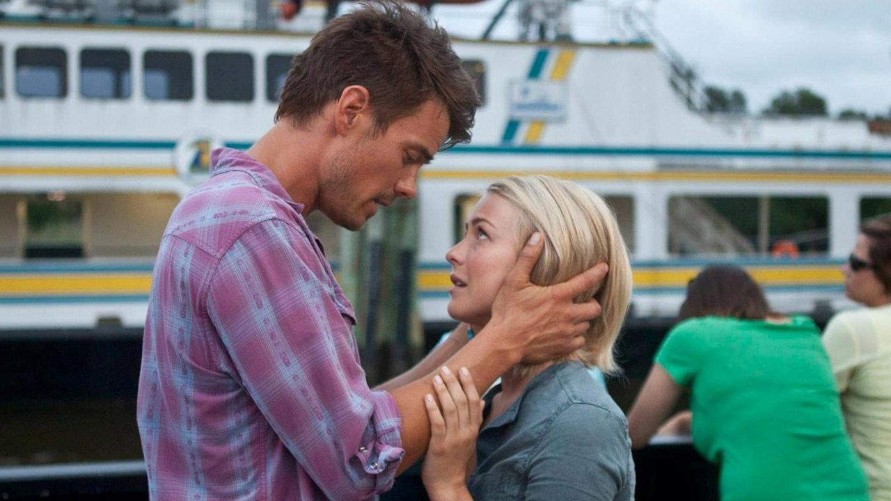 Josh Duhamel and Julianne Hough appear in a scene from the 2013 film Safe Haven.