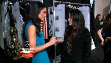 OTRC.com host Rachel Smith talks to designer Jill Stuart during New York Fashion Week in February 2013. - Provided courtesy of OTRC