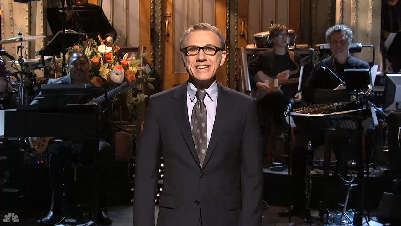 Christoph Waltz appears on the February 17, 2013 episode of Saturday Night Live.