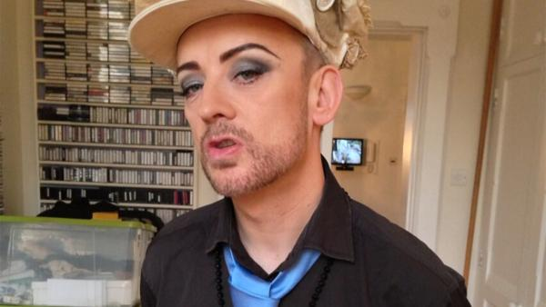Boy George appears in a photo posted on his Twitter page on Feb. 17, 2013.
