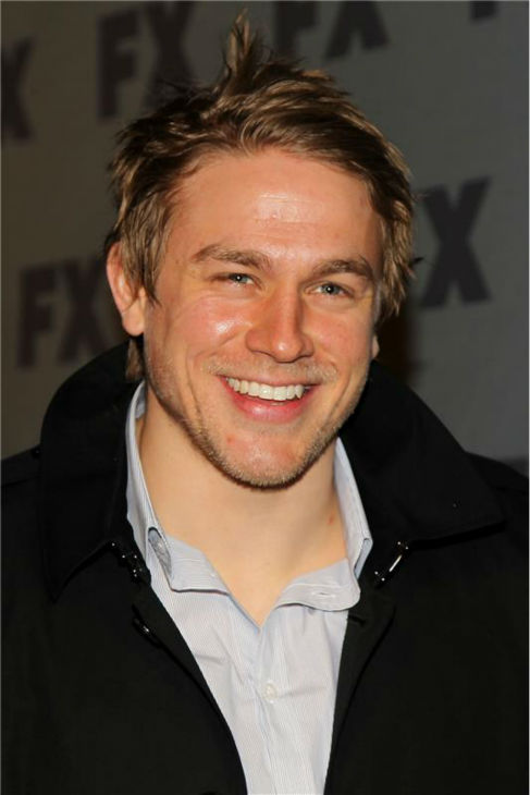 Charlie Hunnam of the FX series 'Sons of Anarchy' attends the FX Ad Sales Upfront Presentation at Lucky Strike Lanes in New York on March 29, 2012.