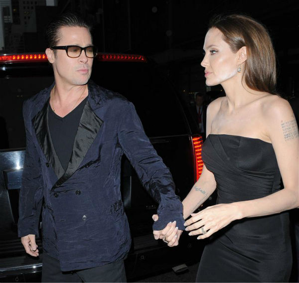 "<div class=""meta ""><span class=""caption-text "">Angelina Jolie and Brad Pitt arrive at the premiere of the HBO film 'The Normal Heart' in New York on May 12, 2014. (Humberto Carreno / Startraksphoto.com)</span></div>"