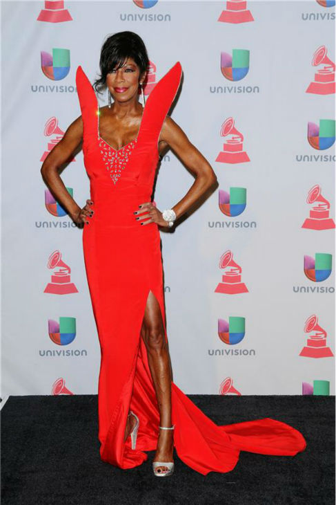 Natalie Cole arrives at the 2013 Latin Grammy Awards at the Mandalay Bay Hotel and Casino in Las Vegas o