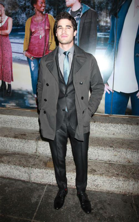 "<div class=""meta image-caption""><div class=""origin-logo origin-image ""><span></span></div><span class=""caption-text"">Darren Criss of 'Glee' fame attends the opening night of the new Broadway musical 'If/Then' at the Richard Rodgers Theatre in New York on March 30, 2014. (Adam Nemser / Startraksphoto.com)</span></div>"