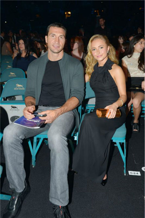 Hayden Panettiere and Wladimir Klitschko attend the 2013 Billboard Awards in Las Vegas on May 19, 2013. <span class=meta>(Albert Ferreira &#47; Startraksphoto.com)</span>