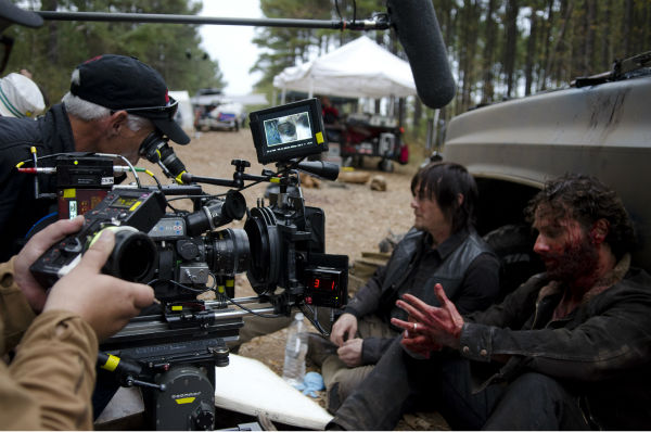 Norman Reedus &#40;Daryl Dixon&#41; and Andrew Lincoln &#40;Rick Grimes&#41; film a scene, in which Grimes tells Dixon he considers him to be his brother, for AMC&#39;s &#39;The Walking Dead&#39; season 4 finale, which aired on March 30, 2014. <span class=meta>(Gene Page &#47; AMC)</span>