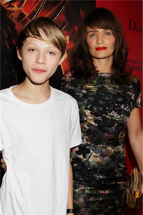 Norman Reedus&#39; &#40;Daryl Dixon on AMC&#39;s &#39;The Walking Dead&#39;&#41; adorable son Mingus, 14, and his mom, the actor&#39;s ex and model Helena Christensen &#40;star of Chris Isaak&#39;s music video &#39;Wicked Game&#39;&#41;, attend the premiere of &#39;The Hunger Games: Catching Fire&#39; in New York on Nov. 20, 2013. <span class=meta>(Dave Allocca &#47; Startraksphoto.com)</span>