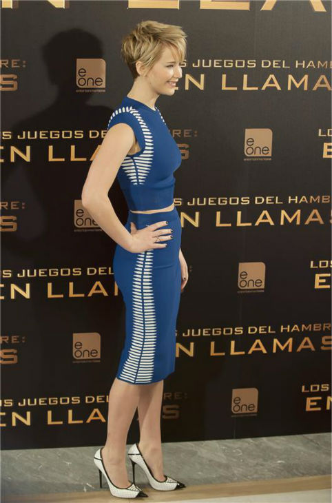Jennifer Lawrence appears at a press conference for &#39;The Hunger Games: Catching Fire&#39; in Madrid, Spain on Nov. 13, 2013. <span class=meta>(Picasso Fernandez-Marcote &#47; Startraksphoto.com)</span>