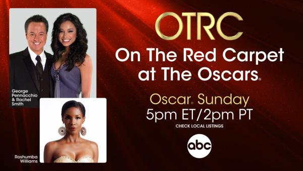 George Pennacchio, Rachel Smith and Roshumba Williams are shown in a publicity photo for the 2013 Oscars pre-show On The Red Carpet at the Oscars, airing on Feb. 24, 2013 from 1:30 p.m. PT (4:30 p.m. ET) - Provided courtesy of OTRC