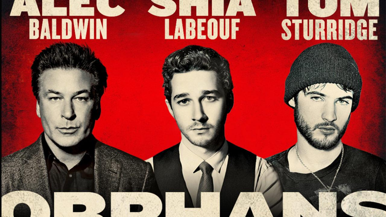 Alec Baldwin, Shia LeBeouf and Tom Sturridge appear in a publicity photo for the 2013 Broadway play Orphans.