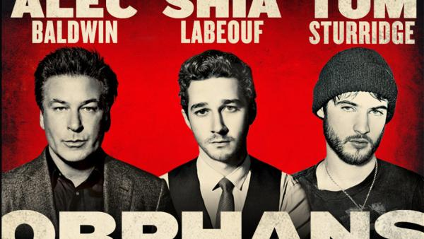 Alec Baldwin, Shia LeBeouf and Tom Sturridge appear in a publicity photo for the 2013 Broadway play Orphans. - Provided courtesy of Gerald Schoenfeld Theatre