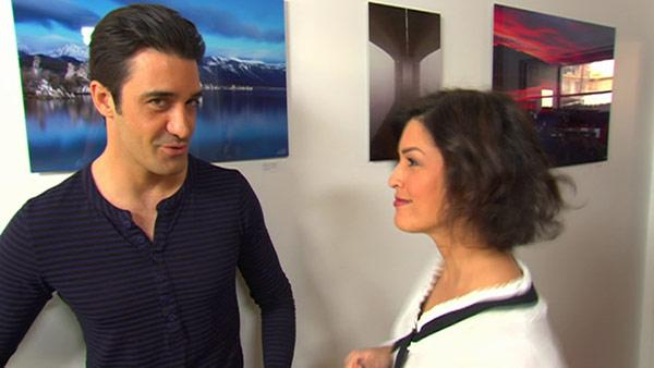 Gilles Marini talks to OTRC.com correspondent Tina Malave at the Fragola fashion showroom in West Hollywood, California before the Oscar ceremony, which takes place on Feb. 24, 2013.