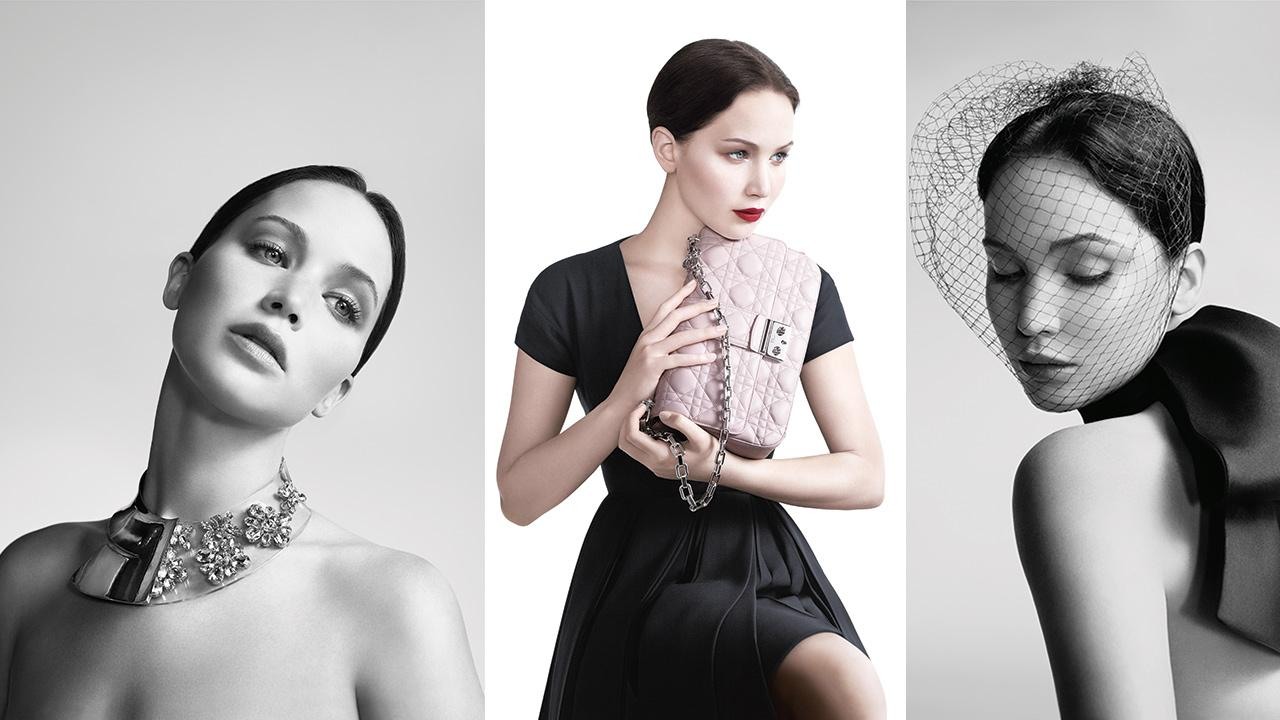 Jennifer Lawrence appears in 2013 ads for Dior.