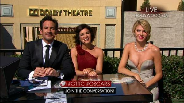 OTRC.com Oscars LIVE STREAM co-hosts Lawrence Zarian and Tina Malave and special guest Brandi Glanville of The Real Housewives of Beverly Hills appear on the show on Feb. 24, 2013. - Provided courtesy of OTRC