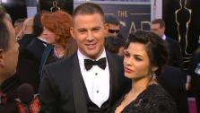 Channing Tatum and his wife, Jenna Dewan, talk to OTRC.com at the 2013 Oscars on Sunday, Feb. 24, 2013. - Provided courtesy of KABC