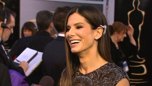 Sandra Bullock talks to OTRC at Oscars 2013