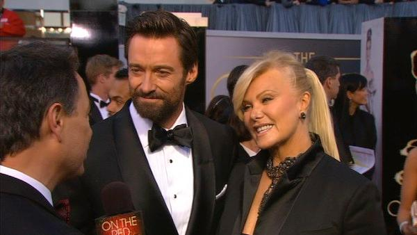 Hugh Jackman talks to OTRC at Oscars 2013