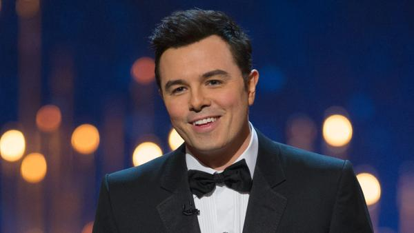 Seth MacFarlane appears on stage at the 2013 Oscars on February 24. - Provided courtesy of Michael Yada / A.M.P.A.S.