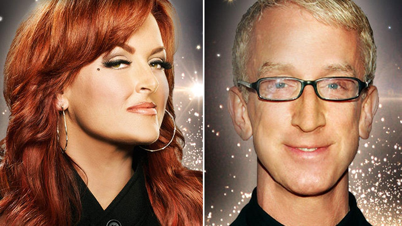 Wynonna Judd and Andy Dick appear in promotional photos for Dancing With The Stars.