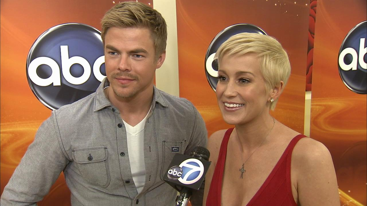 Kellie Pickler and Derek Hough talk to OTRC.com about 16th season of Dancing with the Stars on February 26, 2013.