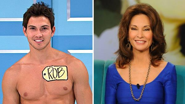 Male model Rob Wilson appears in a still from The Price Is Right. / Susan Lucci appears on The View on February 25, 2013. - Provided courtesy of CBS / Fremantle Media / ABC