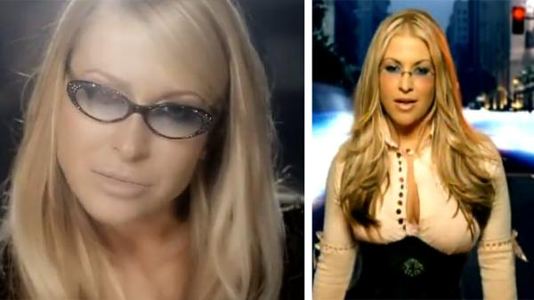 Anastacia appears in the 2012 music video 'Best of You.' / Anastacia appears in the 2004 music video 'Left Outside Alone.'