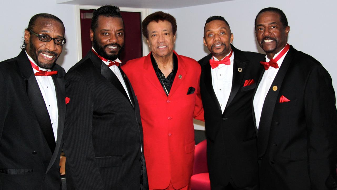 Richard Street (center) of The Temptations appears in a photo with his solo group from September 2012.