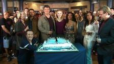 The cast of Castle appear in a photo from their 100th episode celebration on Feb. 27, 2013. - Provided courtesy of OTRC