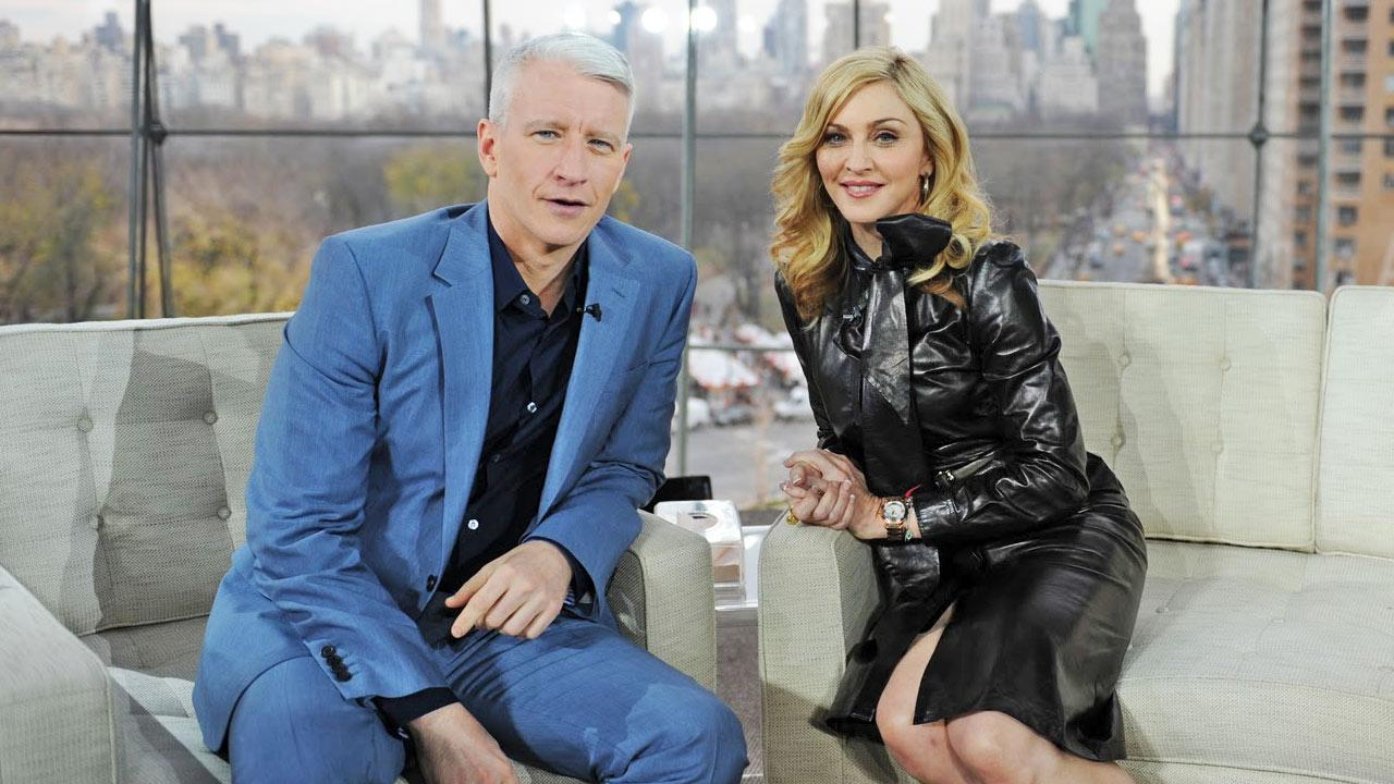 Anderson Cooper and Madonna appear during her interview on Anderson in April 2012.