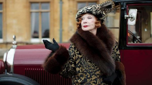 Shirley MacLaine appears in a scene from the PBS series Downton Abbey. - Provided courtesy of Carnival Films / ITV