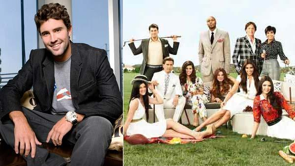 The Kardashian family appear in a promotional photo for Keeping up with the Kardashians. / Brody Jenner appears in a promotional photo for his 2008 series Bromance. - Provided courtesy of E! Entertainment / MTV