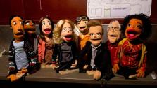 In a season 4 episode of Community titles Intro to Felt Surrogacy, the characters from the NBC show are shown as puppets. Pictured from L to R: Abed, Troy, Annie, Britta, Chang, Jeff, Pierce and Shirley. - Provided courtesy of Justin Lub