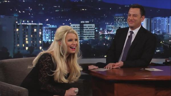 Jessica Simpson appears on the March 6 episode of Jimmy Kimmel Live! - Provided courtesy of ABC / Jimmy Kimmel Live!