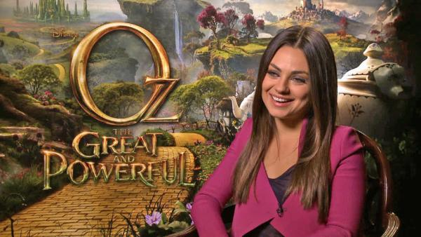 Mila Kunis on corsets and cleavage in 'Oz' film: 'They're huge!'