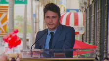 James Franco speaks at his Hollywood Walk of Fame star ceremony on Thursday, March 7, 2013. - Provided courtesy of OTRC