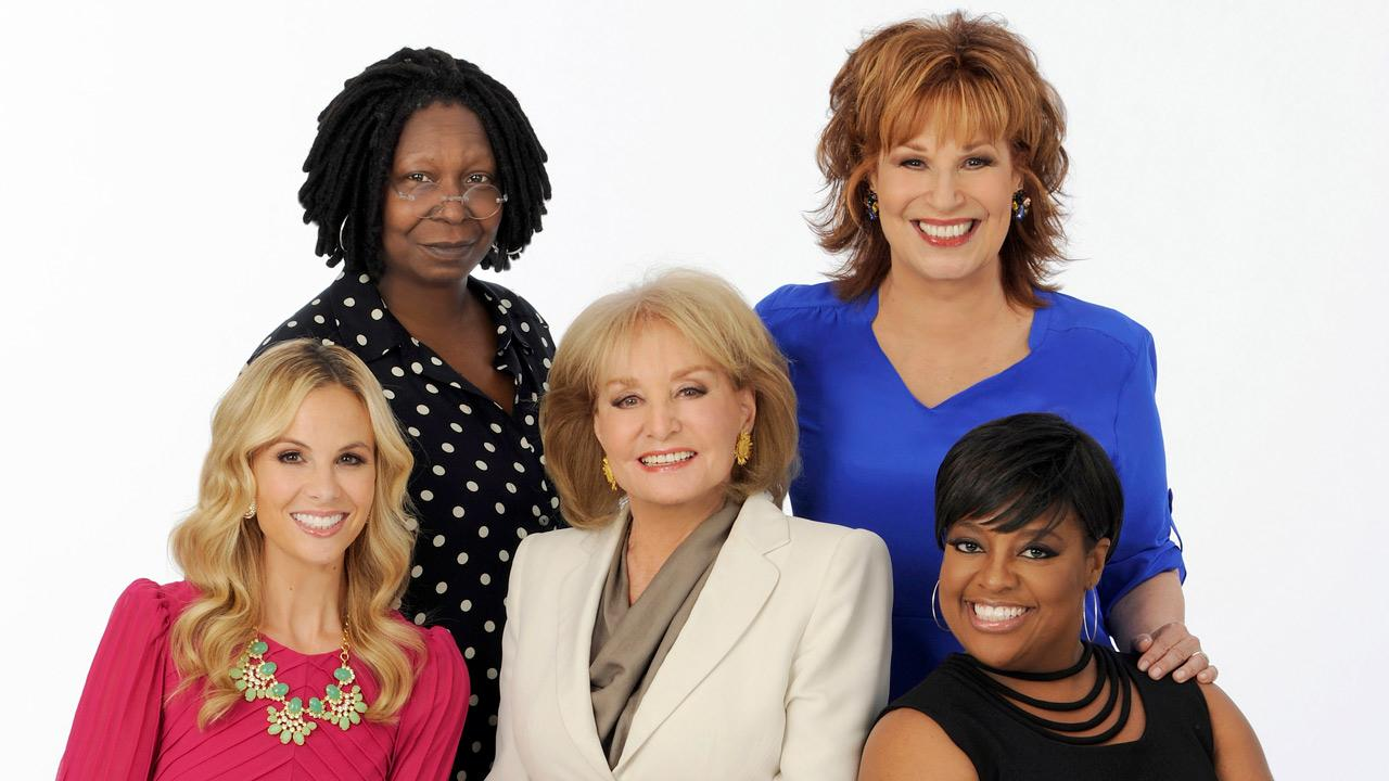 Whoopi Goldberg, Joy Behar, Barbara Walters, Sherri Shepherd and Elisabeth Hasselbeck appear in a 2012 publicity photo for the ABC show The View.