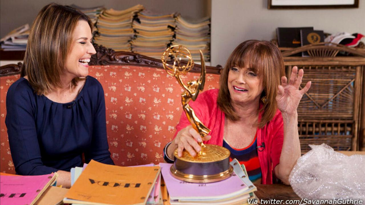 Valerie Harper and Savannah Guthrie are seen in a photo posted on Guthries Twitter account on March 11, 2013.