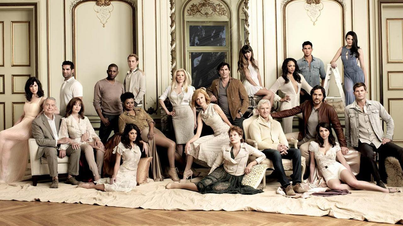 The cast of All My Children appear in a promotional photo for the online debut of the show in 2013.