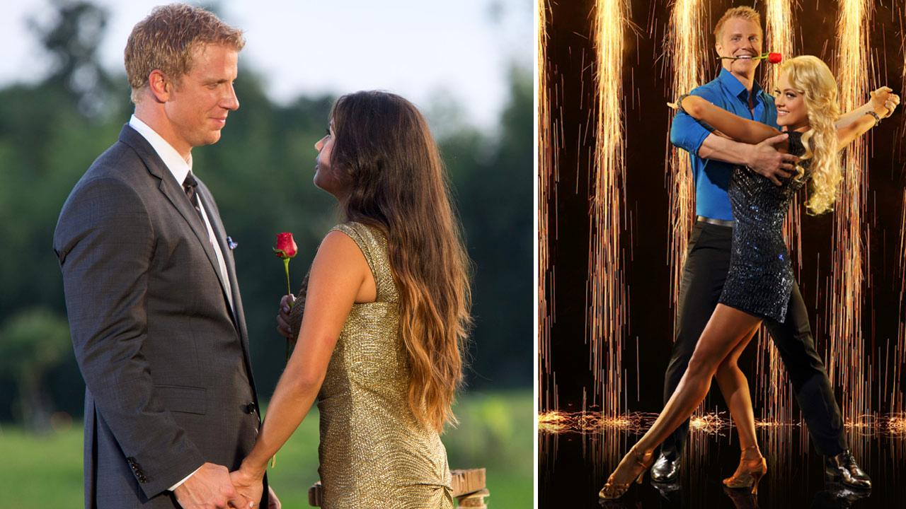 Sean Lowe and Catherine Giudici appear in the finale of The Bachelor, which aired on March 11, 2013. / The Bachelors Sean Lowe partners with Peta Murgatroyd for season 16 of Dancing With The Stars in 2013.