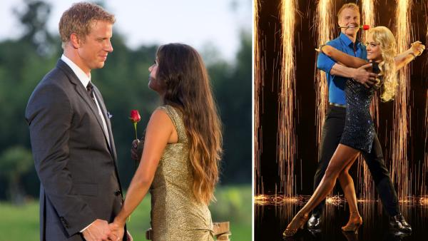 Sean Lowe and Catherine Giudici appear in the finale of The Bachelor, which aired on March 11, 2013. / The Bachelors Sean Lowe partners with Peta Murgatroyd for season 16 of Dancing With The Stars in 2013. - Provided courtesy of ABC / Dave Hagerman / Craig Sjodin