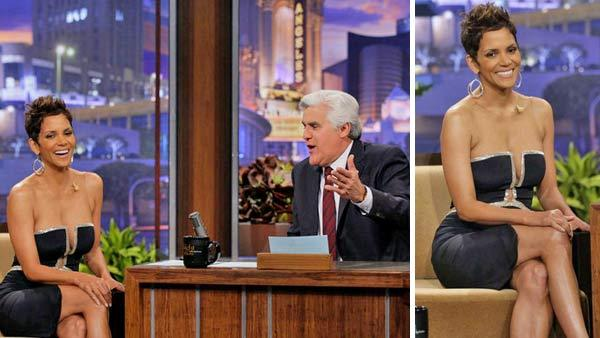 Halle Berry appears on The Tonight Show with Jay Leno on Monday, March 11, 2013. - Provided courtesy of NBC