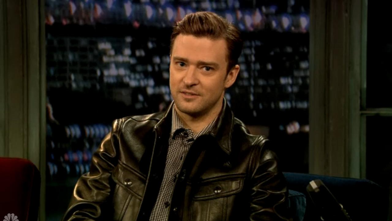 Justin Timberlake appears on Late Night with Jimmy Fallon on March 11, 2013.