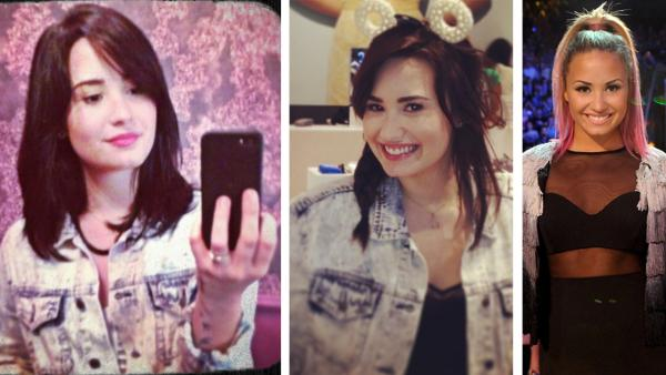 Demi Lovato appears in photos posted on Twitter on March 12, 2013. / Demi Lovato appears in a fall 2012 publicity photo for the FOX series The X Factor. - Provided courtesy of twitter.com/ddlovato/status/311655663430406145/photo/1 / instagram.com/p/WxWOToOKjP/ Ray Mickshaw / FOX