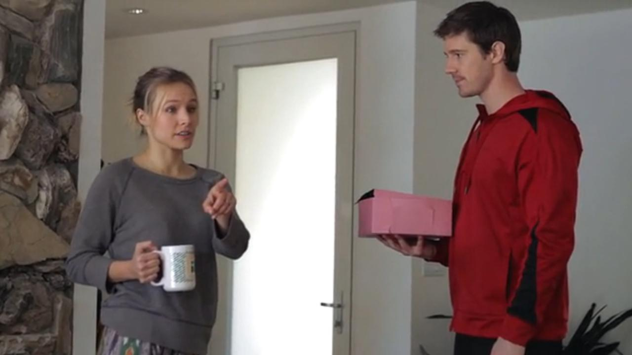 Kristen Bell and Jason Dohring appear in a video posted on the Veronica Mars Movie Project Kickstarter campaign website on March 12, 2013.