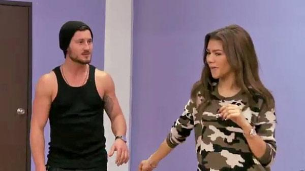 Zendaya Coleman and partner Val Chmerkovskiy appear during 'Dancing With The Stars' rehearsal in March 2013.